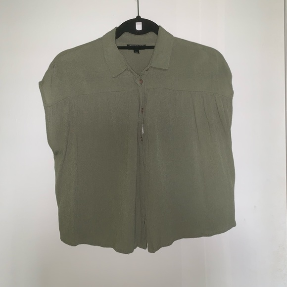 Topshop Tops - TOPSHOP Green Blouse